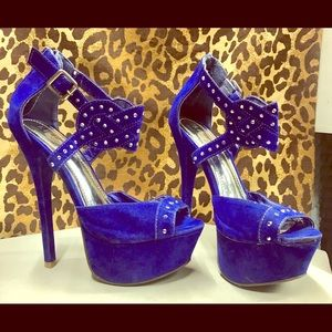 Liliana Blue High Heel Shoes 💃🏼